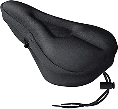 TUSIN Bike Seat Cover, Soft Gel Seat Cushion I Water & Dust Proof Case for Bike Saddle 11 X 7 Inch