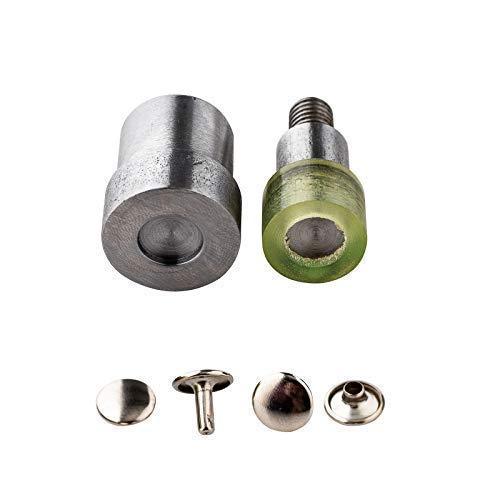 Trimming Shop Doppel Kappe Tubular Niet Einstellwerkzeug Stanzen Set für Universal Grün Handpresse Maschine Nieteneinschläger - Silbern, 6mm
