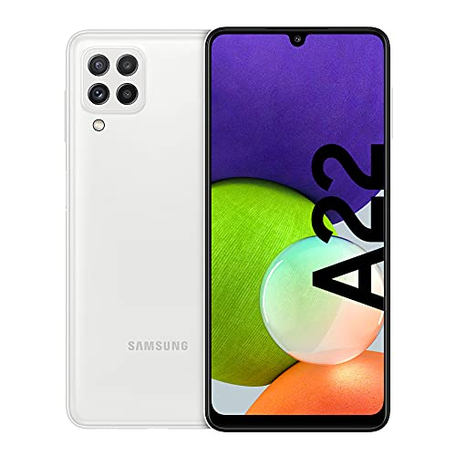 Samsung Galaxy A22 Smartphone ohne Vertrag 6.4 Zoll 128 GB Android Handy Mobile White