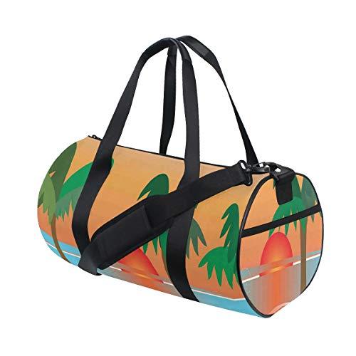 HARXISE Barbacoa en la playa con palmeras y vacaciones tropicales al atardecer,Bolsa...