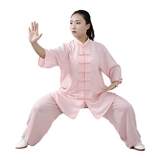 BBLAC 2KEY Artes Marciales Ropa   Unisex Traje para Tai Chi y Meditación   Tradicional Chino Uniforme Está Hecho Algodón y Lino (XXL,D)