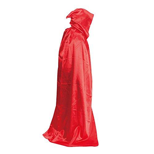 lulalula Disfraz de bruja con capucha de Halloween para hombres y mujeres, 4 colores talla L (rojo)
