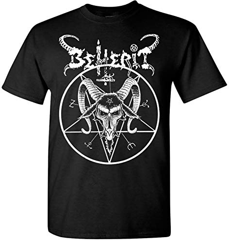 Beherit Pentagram T Shirt Black Metal Death Emperor Blasphemy Dark Throne Newest Men T-Shirt Fashion Top Tee