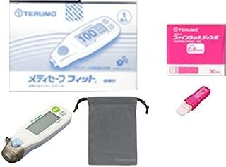 テルモ メディセーフフィット 本体(ブルー) 穿刺具セット ファインタッチディスポ0.8mm1箱 血糖測定器 2点セット
