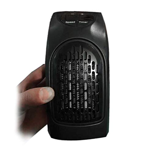 SOONSOP Minicalefactor eléctrico con protección contra sobrecalentamiento, enchufes, calentador de aire para...