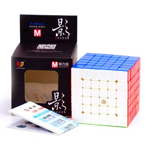 CuberSpeed X-Man Design Shadow M 6x6 Stickerless Speed Cube Qiyi Shadow M 6x6...