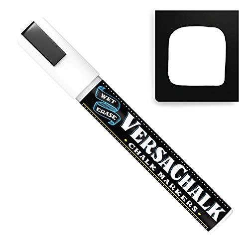 VersaChalk White Chalkboard Chalk Markers - Wet Erase Dustless Chalk Ink Paint Marker for Blackboard, Dry Erase White Board, Chalkboard Sign (BOLD 5mm, 1PC)