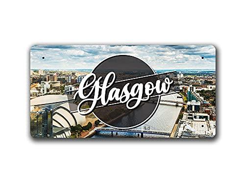 McMug Glasgow Day Landscape - Scotland - Metal Sign