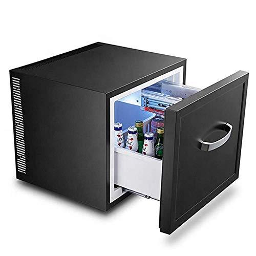 Mini nevera / cajón frigorífico para bebidas, enfriador eléctrico, congelador compacto, 36 db, 5 a 8 ° C, lámpara LED, puerta de acero inoxidable, apto para sala de estar, oficina, cerveza, mini bar,