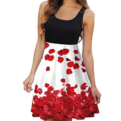 Momoxi Abito Donna, Vestiti da Donna Boho Floral Spaghetti Strap Button Down Swing Dress 2019 Nuova Moda Affascinante E Confortevole A Basso Prezzo Sciolto