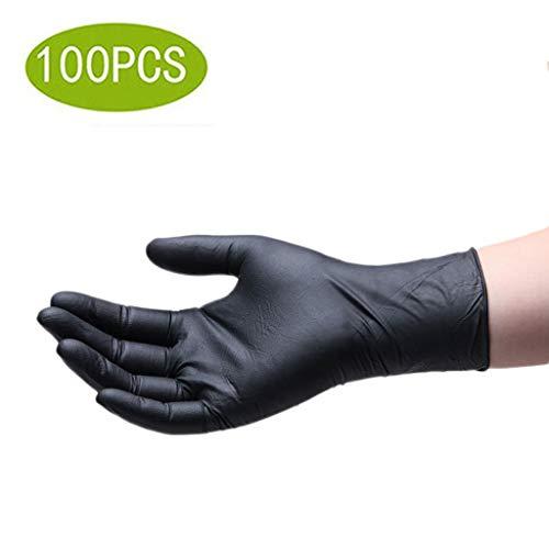 YYZSL Einmalhandschuhe pour Nitril-Einweghandschuhe, blau, 4 mil, 100 Stück pro Karton / 10 Stück pro Karton Erste-Hilfe-Artikel Disposible Gloves (Color : Black, Size : S)