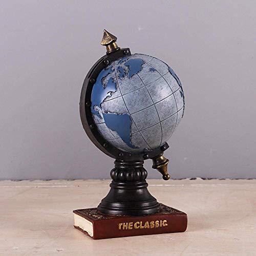 LYMUP Decoraciones Arte Artesanía Tierra Resina Piggy Bank Earth Money Box Retro Estatua Regalo Inicio
