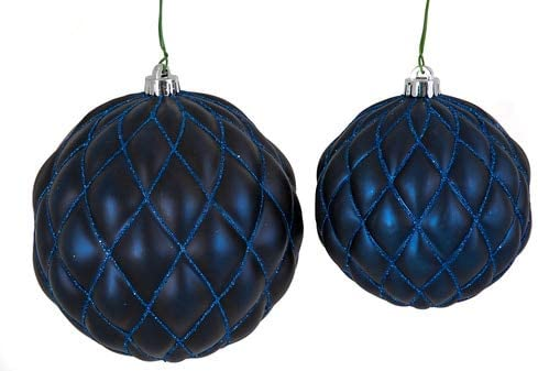 Matte Cash National products special price Navy Blue Quilted Pattern Inch Ball Glitter 6 with