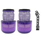 NICERE Recambios para aspiradoras de repuesto de filtro de vacío para V11 Sv14 parte de filtro trasero Partes de aspirador piezas de repuesto de filtro HEPA Set 2 unids