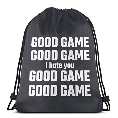 Good Game, I Hate You - Bolsas de cordón ligeras para gimnasio, deporte, bapa para viajes, playa, yoga