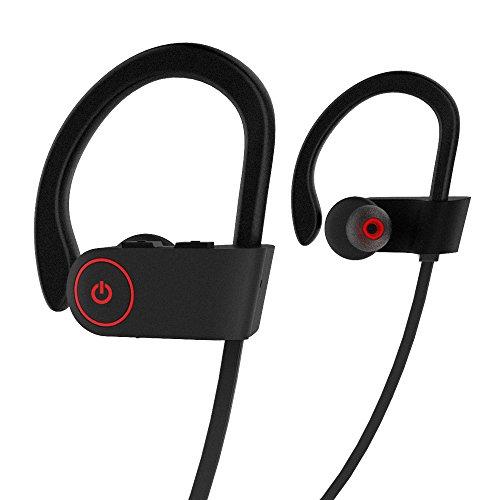 Auriculares Inalámbricos Bluetooth In Ear Deportivos, CompraFun Audífonos con Micrófono Manos Libre, Reducción de Ruido CVC 6.0, Impermeabilidad IPX 7, Bluetooth 4.1, 8 Horas de Uso, iOS Android