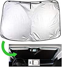Chirano Sunshade Designed for Tesla Model 3/Y Exclusively, Front Windshield, Double Layer Light Blocking Fabric, Foldable Sun Shade with a Storage Bag, Tesla Accessories (for Model 3/Y)
