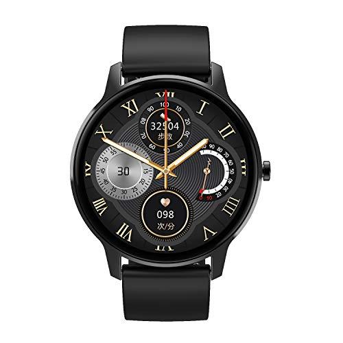 Pulsera inteligente para teléfonos Android, con presión arterial, frecuencia cardíaca, IP67, resistente al agua, reloj inteligente compatible con iPhone Samsung, cinta negra