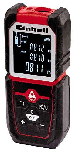 Einhell Laser-Distanzmesser TC-LD 50 (bis 50 m, Messreferenz Vorder-, Hinterkante oder Anschlagplatte, Pythagoras- und Absteck-Funktion, inkl. Tasche)