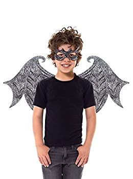 Little Adventures Reversible Dragon Mask and Wing Sets for Boys & Girls  Ages 3-8   Black