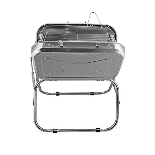 Conception portable Barbecue Accueil Cuisine pique-nique pique-nique qualité épais en acier inoxydable charbon multi-personne Barbecue avec plateau de pique-nique portable sauvage Stable et durable