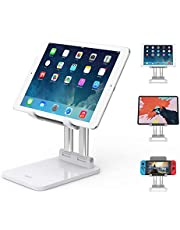 SooPii Sturdy Tablet Stand, Dual Aluminum alloy Support, Height & Angles Adjustable, Foldable,Compatible with Microsoft Surface Series Tablets,iPad Series,Samsung Galaxy Tabs,Amazon Kindle Fire,and other devices 7-15inches