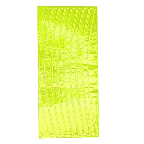 Pegatinas reflectantes para bicicletas, cree un estilo único por sí mismo Los clips de radios de bicicleta mejoran la visibilidad de la conducción nocturna para frenos de disco y frenos en V(yellow)