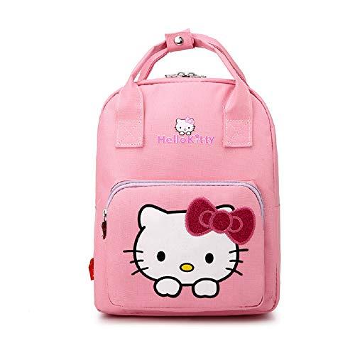 Cartoon-Rucksack mit Griff, großes Fassungsvermögen, Vorschulrucksack für Kinder Pink Hello Kitty Pink 28 cm