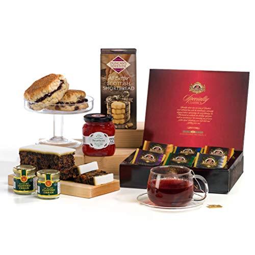 Luxury Afternoon Cream Tea, Scones & Jam Hamper Gift Box