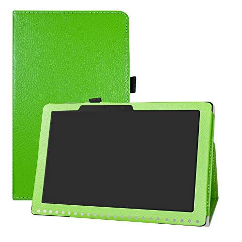 "LFDZ Acer Iconia One 10 B3-A50 Custodia, Slim Ultra Pelle Sottile e Leggera Cover Case Custodia per 10.1"" Acer Iconia One 10 B3-A50 Tablet,Verde"