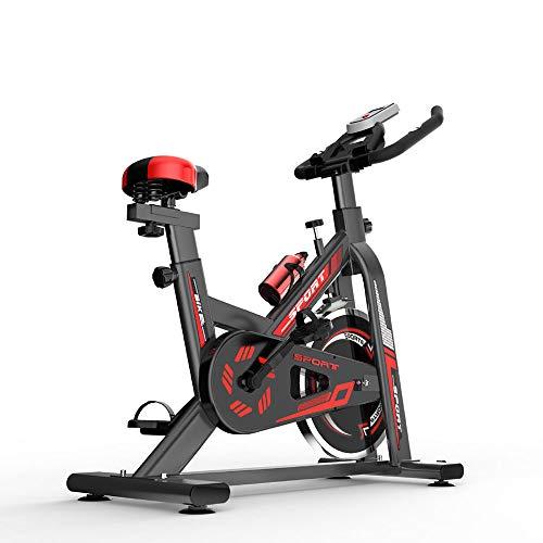 Inicio Bicicleta estática, Cubierta de Spin Ciclo de la Bici, Mute, Estable y Seguro, Manillar Ajustable y la Altura del Asiento, para la Oficina, el hogar,Negro