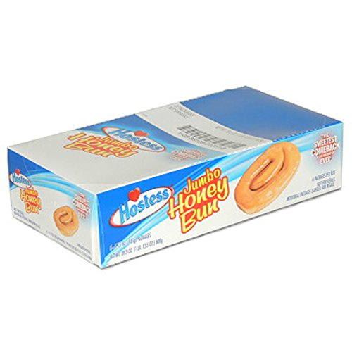 Hostess, Jumbo Honey Bun, Count 6 (4.75 oz) - Cakes & Muffins / Grab Varieties & Flavors