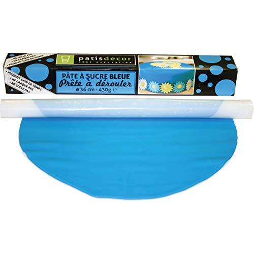 PATISDECOR Pate à Sucre Bleu à Derouler Vanille 430 g