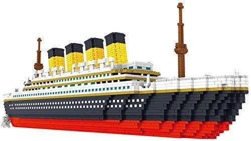 FJJF Bloque de construcción Modelo Titanic Building Block Set 3800+ PCS Nano Mini Block Block 3D Puzzle DIY DIY NIÑOS EDUCAJE DE Juguete