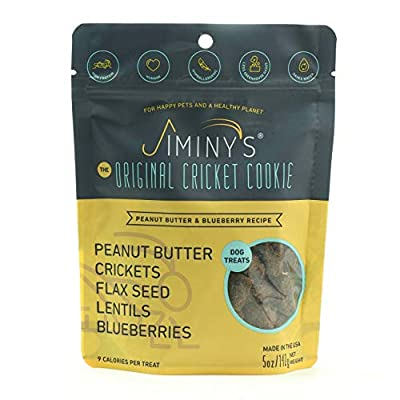 Jiminy's Cricket Protein Dog Treats, 5-6 Ounce Bag