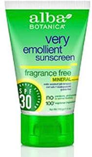Alba Botanica Sensitive Mineral Sunscreen Fragrance Free, SPF 30 4 oz (Pack Of 2)