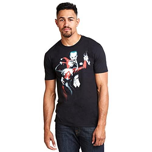 DC Comics Joker & Harley Camiseta, Negro...