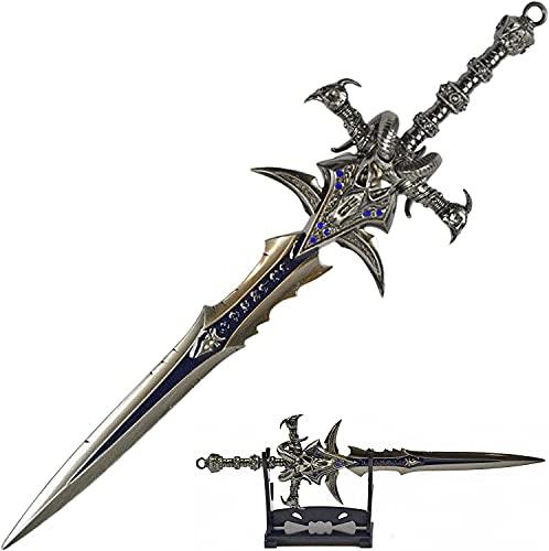 World of Warcraft- Frostmourne, Brieföffner in Schwertform mit Basis, 22,5 cm, Accessoire für Zuhause und das Büro, Geschenk und Merchandise für Fans & Sammler