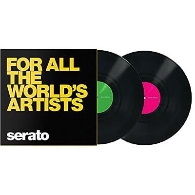 """Serato 12"""" Manifesto Control Vinyl x2 (Yellow Text)"""