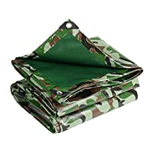 ASKLKD Lona de camuflaje - Impermeable al aire libre Pesca Camping Camping Sábana cubierta 500g / m² (Size : 2mx2m (6.5ftx6.5ft))