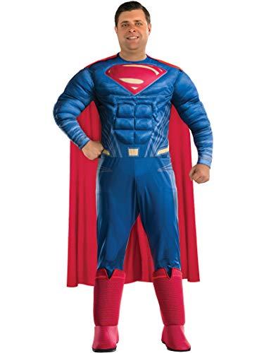 Rubie's Men's Batman v Superman: Dawn of Justice Deluxe Superman Plus Size Costume, Multi, One Size