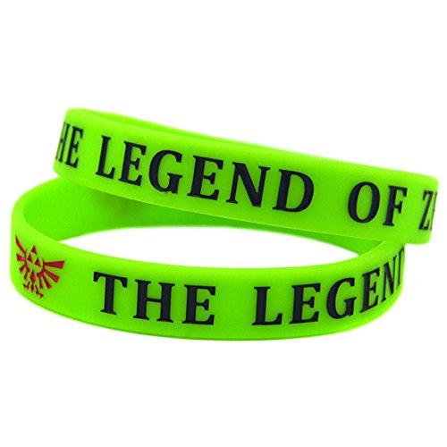 LiFashion LF 2 Stück Die Legende von Zelda Triforce Rubber Armband Zelda Symbol Spiel Silikon Armband für Mädchen Jungen Teens für Party Geburtstagsgeschenk,Packung mit 2