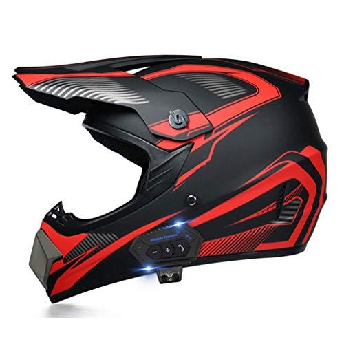 LNSOO MotocicletaCasco Bluetooth, Modular abatibleBluetooth Casco de Motocicleta Dial de Voz Llamada Manos Libres / 500M / 2-3 pasajeros / MP3 / FMDOT Casco de Motocicleta con Bluetooth 3.0