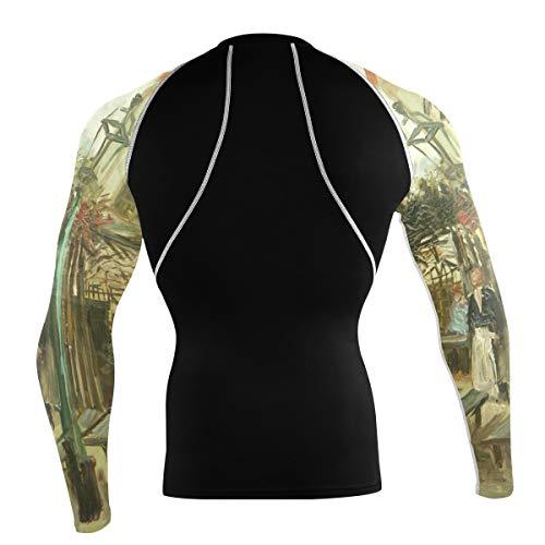 Fantazio Van Gogh Gartenlokal T-shirt à manches longues pour vélo de montagne et vélo de route - - XL