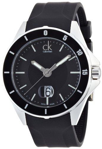 Calvin Klein CK Play K2W21XD1 - Reloj analógico de Cuarzo para Hombre, Correa de Goma Color Negro