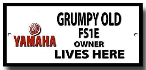 Grumpy old Yamaha FS1E owner lives here quality metal sign