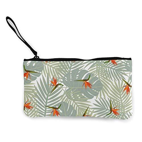 Tropisches nahtloses Muster, Segeltuch-Portemonnaie, exquisite Münzbörse, kleine Geldbörse aus Segeltuch, wird verwendet, um Münzen, Ausweise und andere zu halten.