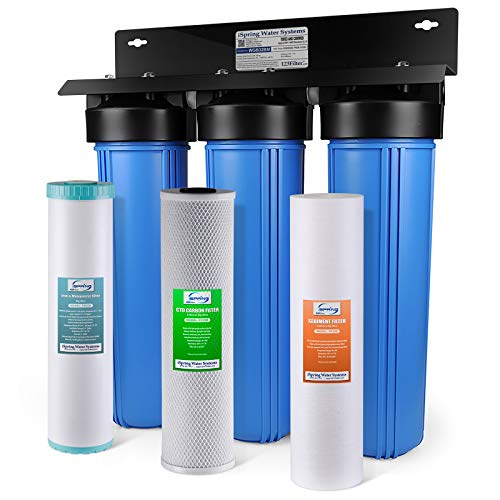 iSpring WGB32BM 3-Stage Whole House Water Filtration System w/ 20-Inch