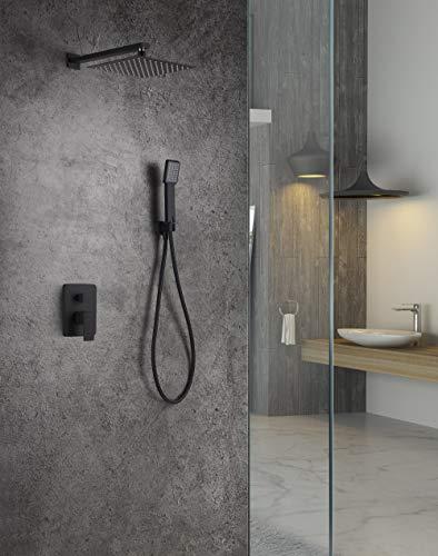 Conjunto de ducha empotrado Imex Dublin Negro GPE006-NG