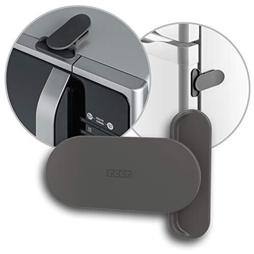 reer Elektrogeräte-Sicherung NEUE VERSION, Kinder-Sicherung für Kühlschrank, Mikrowelle, Schiebetüren vom schwäbischen Kindersicherheits-Experten